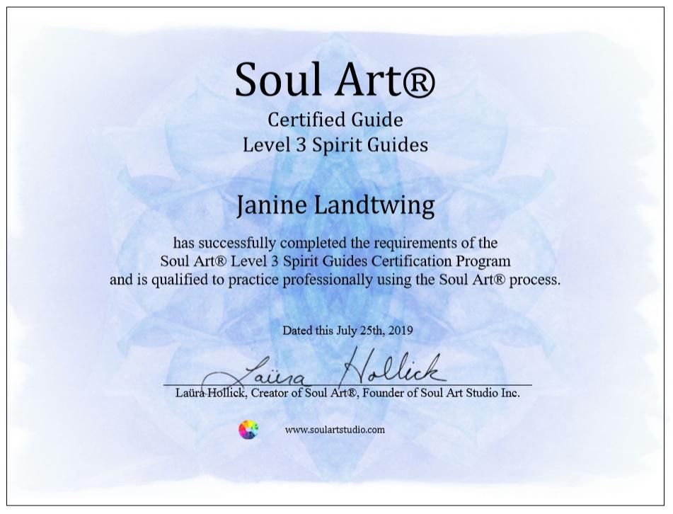 Certificate Soul Art Spirit Guides